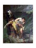 Carrying the Dead, C1842-1896 Giclee Print by Evariste Vital Luminais