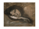 Head of a Sleeping Woman, 19th or Early 20th Century Reproduction procédé giclée par Eugene Carriere