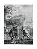 Sale of a Negro Slave Giclee-trykk av  Eisen
