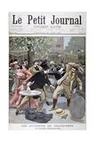Incident at the Grand-Prix, Pavillion D'Armenonville, France, 1899 Gicléetryck av Eugene Damblans