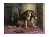 Suspense, 19th Century Giclée-tryk af Edwin Henry Landseer