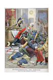 Massacre in the Church of Moukden, Mandchourie, China, 1900 Gicléetryck av Eugene Damblans