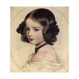 Princess Clotilde of Saxe-Coburg and Gotha, (1846-192), 1855 Reproduction procédé giclée par Franz Xaver Winterhalter