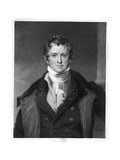 Humphry Davy, English Chemist Giclee Print by E Scriven