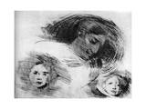 Rough Sketch, C1870-1905 Reproduction procédé giclée par Eugene Carriere