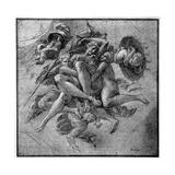 Design for the Ulysses Gallery, Fontainebleau, C1540S Giclée-tryk af Francesco Primaticcio
