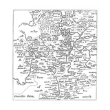 A Map of Stratford-Upon-Avon and its Surrounding Areas, 1610 Giclee Print by Edward Hull