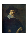 Portrait of a Man Holding Gloves, C1645 Giclee Print by Frans Hals