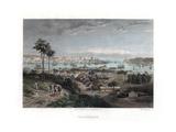 Valparaiso, Chile, 1840 Lámina giclée por Edward Willmann
