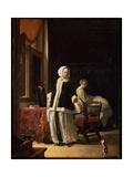 Morning of a Young Lady, C1660 Lámina giclée por Frans Van Mieris