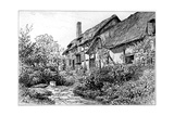 Anne Hathaway's Cottage at Shottery, Stratford-Upon-Avon, Warwickshire, 1885 Giclee Print by Edward Hull