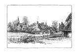 Luddington Village and New Church, Warwickshire, 1885 Giclee Print by Edward Hull