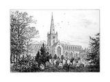 Stratford Church as Seen from the North, Stratford-Upon-Avon, Warwickshire, 1885 Giclee Print by Edward Hull