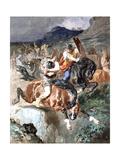Fight of the Riders, C1842-1896 Giclee Print by Evariste Vital Luminais