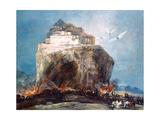 City on the Rock, C1878-1918 Giclée-Druck von Eugenio Lucas Villamil