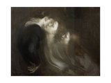 The Motherly Kiss, Late 1890s Reproduction procédé giclée par Eugene Carriere