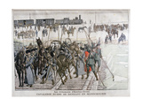Russian Cavalry Heading into Mandchourie, China, 1900 Giclée-tryk af Eugene Damblans