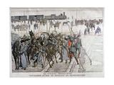 Russian Cavalry Heading into Mandchourie, China, 1900 Gicléetryck av Eugene Damblans