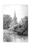 Stratford Church as Seen from the River, Stratford-Upon-Avon, Warwickshire, 1885 Giclee Print by Edward Hull