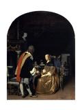 The Oyster Meal, 1659 Lámina giclée por Frans Van Mieris