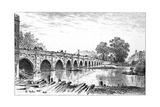 Stratford Bridge, Stratford-Upon-Avon, Warwickshire, 1885 Giclee Print by Edward Hull