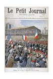 French Troops Embarking for China, 1900 Gicléetryck av Eugene Damblans