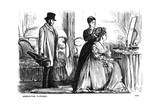 Aggravating Flippancy, 1870 Giclee-trykk av George Du Maurier