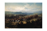 Charge of the English Light Brigade at the Battle of Balaclava on 25 October 1854, 19th Century Giclee Print by Friedrich Kaiser