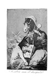 Might Not the Pupil Know More, 1799 Giclée-tryk af Francisco de Goya