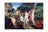 The Bath of Diane, C1510 Giclée-tryk af Francois Clouet
