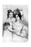 Princess Victoria and Her Mother in 1834 Giclee Print by George Hayter
