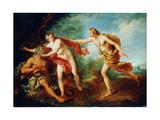 Apollo and Daphne, 18th Century Giclée-tryk af Francois Lemoyne