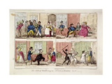 Walking the Streets of London, 1818 Lámina giclée por George Cruikshank
