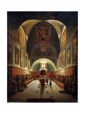 Interior of the Church of Capuchines in Rome, Late 18th or 19th Century Giclée-Druck von Francois-Marius Granet