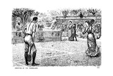 Amenities of the Tennis Lawn, 1883 Giclee-trykk av George Du Maurier