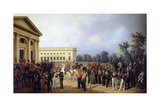 The Imperial Russian Guard in Tsarskoye Selo in 1832, 1841 Giclee Print by Franz Kruger