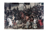 Parade at the Opera Place, Berlin, (Detail), C1817-1857 Giclee Print by Franz Kruger