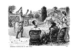 Barbarous Technicalities of Lawn Tennis, 1882 Giclee-trykk av George Du Maurier