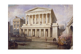 Proposed View of Fishmongers Hall Near London Bridge, City of London, C1830 Giclee Print by Frederick Nash