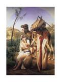 Judah and Tamar, 1840 Impressão giclée por Horace Vernet
