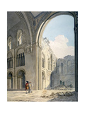 Choir of the Church of St Bartholomew-The-Great During Repairs, Smithfield, City of London, 1815 Giclee Print by Frederick Nash