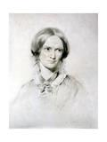 Charlotte Bronte, English Novelist, 1850 Reproduction procédé giclée par George Richmond