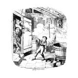 A Man Shoots a Young Boy Who He Suspects of Stealing, 19th Century Lámina giclée por George Cruikshank