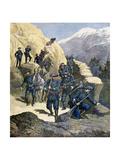 Alpine Chasseurs, 1891 Giclée-tryk af F Meaulle