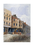 View of Oliver Cromwell's House, Clements Lane, Westminster, London, C1840 Giclee Print by Frederick Nash