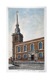 View of St James's Church, Piccadilly from Jermyn Street, London, 1806 Giclee Print by Frederick Nash