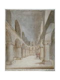 Interior View of St John's Chapel, Tower of London, C1810 Giclee Print by Frederick Nash
