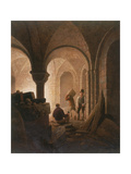 Crypt of St Mary-Le-Bow, London, 1818 Giclee Print by Frederick Nash