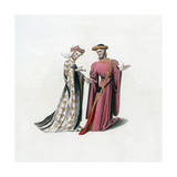 Court Dress, 14th Century Giclee Print by Henry Shaw