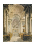 Interior of the Church of St Stephen Walbrook, City of London, 1810 Giclee Print by Frederick Mackenzie